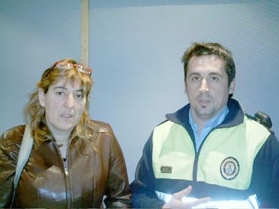 Blanca Vergara i Miquel Àngel Garcia, delegats sindicals de la Policia Local de Palamós