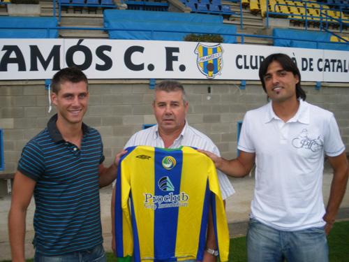 Duran i Charcos, amb el vicepresident Miquel Aguilar enmig.
