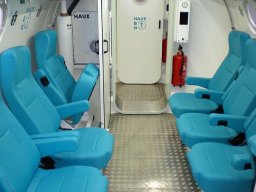 La cambra hiperbàrica tracta accidents d'immersions i altres patologies.