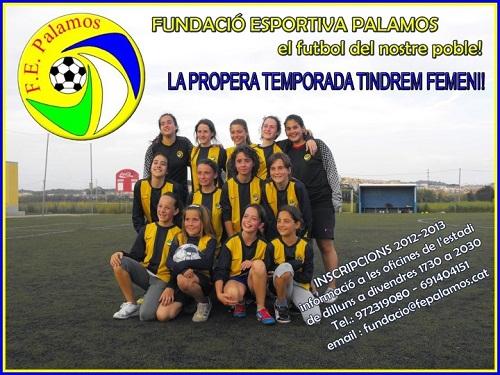 Cartell promocional del futbol femení de la Fundació.