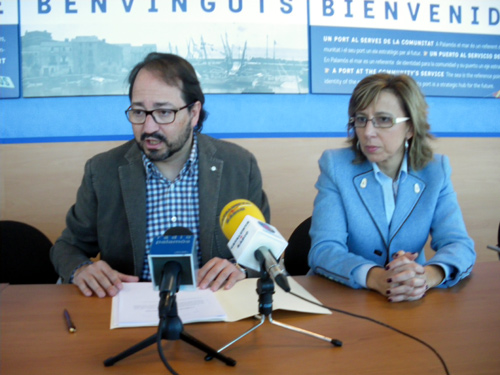Àlex Sáez i Teresa Ferrés, avui en roda de premsa.
