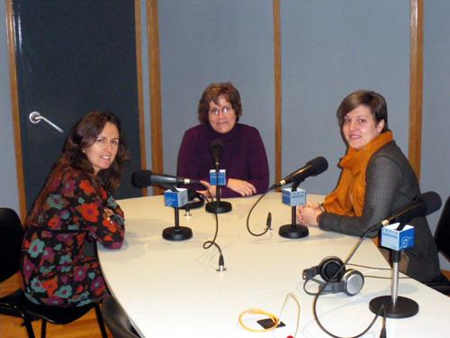 Medina, Gil i Forster, als estudis de Ràdio Palamós.