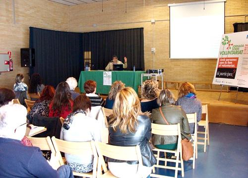 Jornades de Voluntariat a Palamós, el passat dissabte. (Foto: voluntaris.cat).
