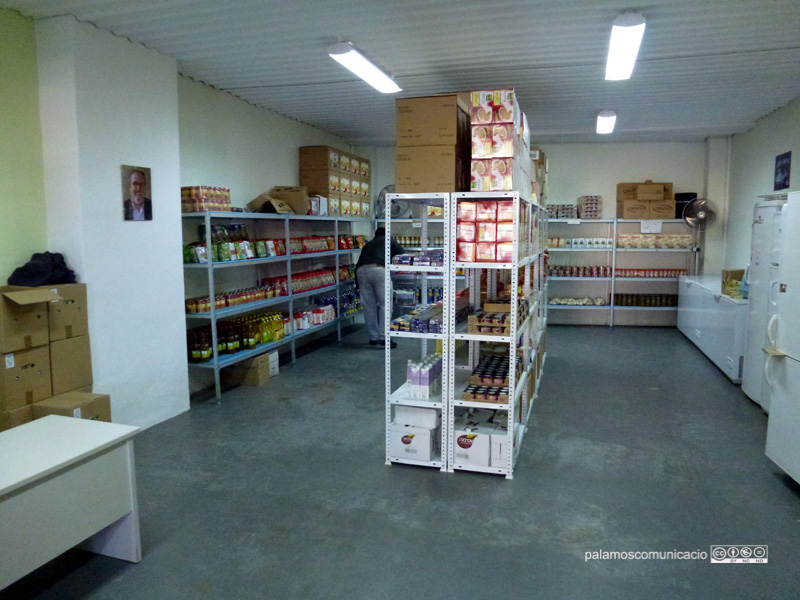 L'Espai de Distribució d'Aliments atén une 350 famílies necessitades. (Foto: Ràdio Palamós)