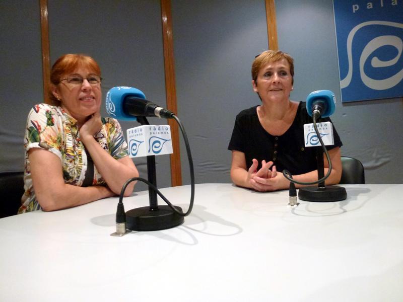 Roser Huete i Carmen Nicolás, de l'Associació de Defensa dels Barris.