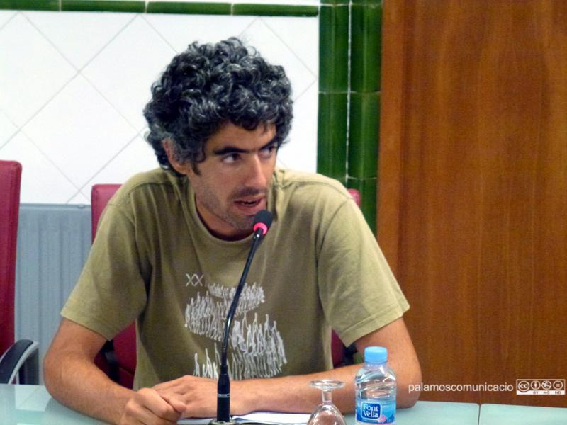 Joan Bohigas, regidor de la CUP, en el Ple de dimarts.