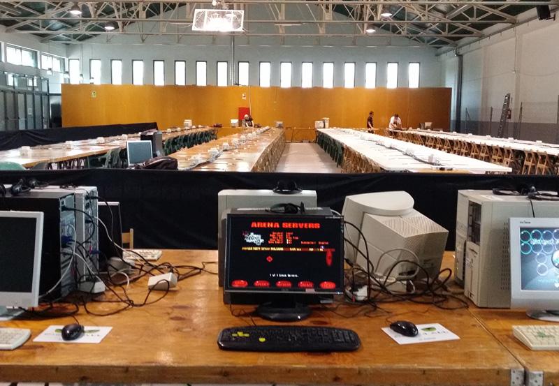 L'espaid de la Nau dels 50 metres, preparat per a la Lan Party. (Foto: Palamós Tecnofan).