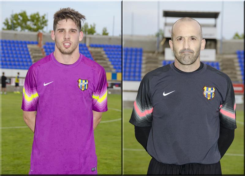 Aleix Manzano i Joan Bayona, porters del primer equip del Palamós CF. (Fotos: Olga Grassot).
