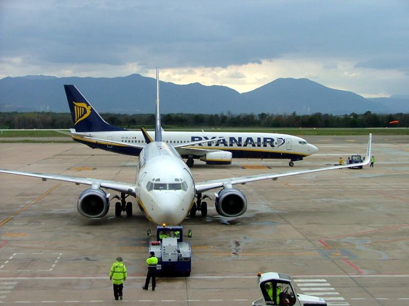 Un aspecte de les instal·lacions de l'aeroport de Girona.