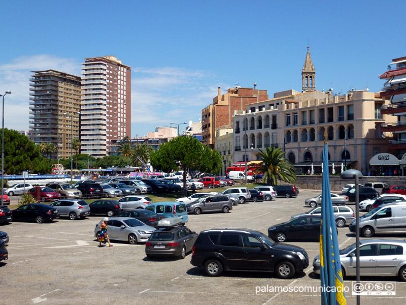 L'estacionament de la Planassa, en una imatge d'arxiu.
