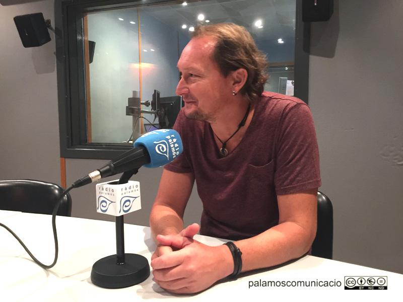 El regidor Dani Reixach, avui a Ràdio Palamós.