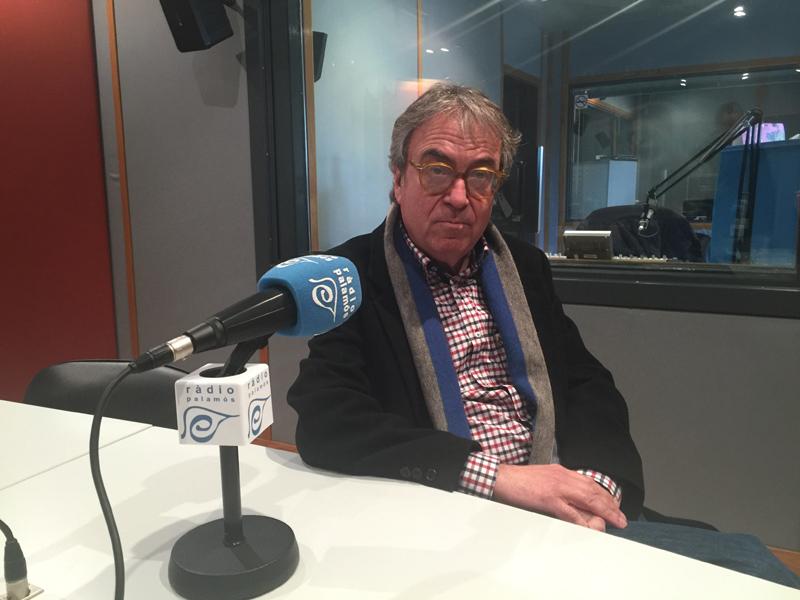 Antoni Batista, ahir als estudis de Ràdio Palamós.