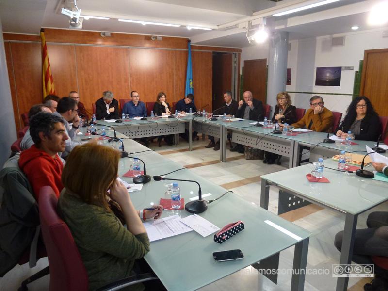 El Ple de l'Ajuntament de Palamós, en la sessió d'aquest mes de març.