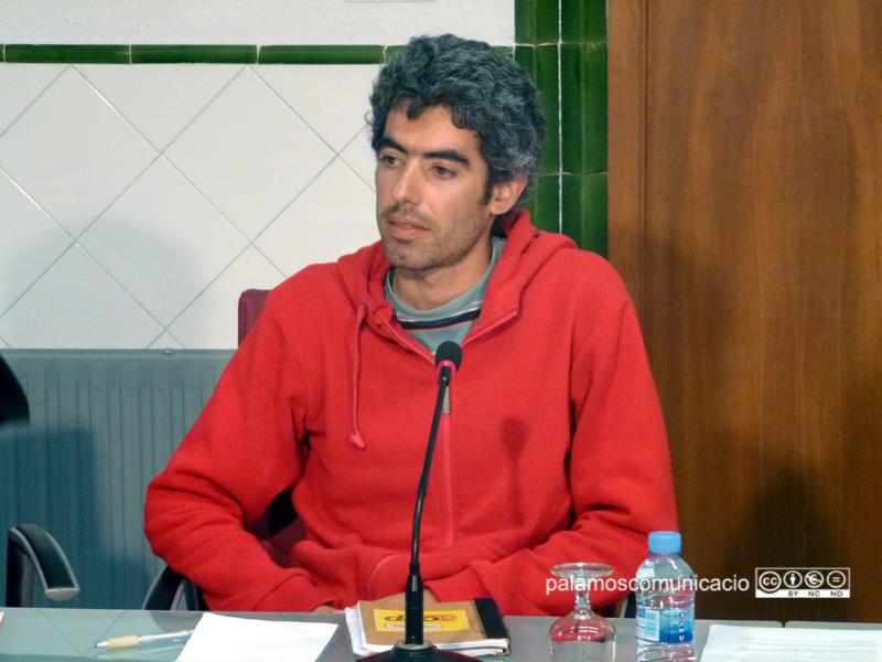 El regidor de la CUP, Joan Bohigas, en el darrer Ple municipal.