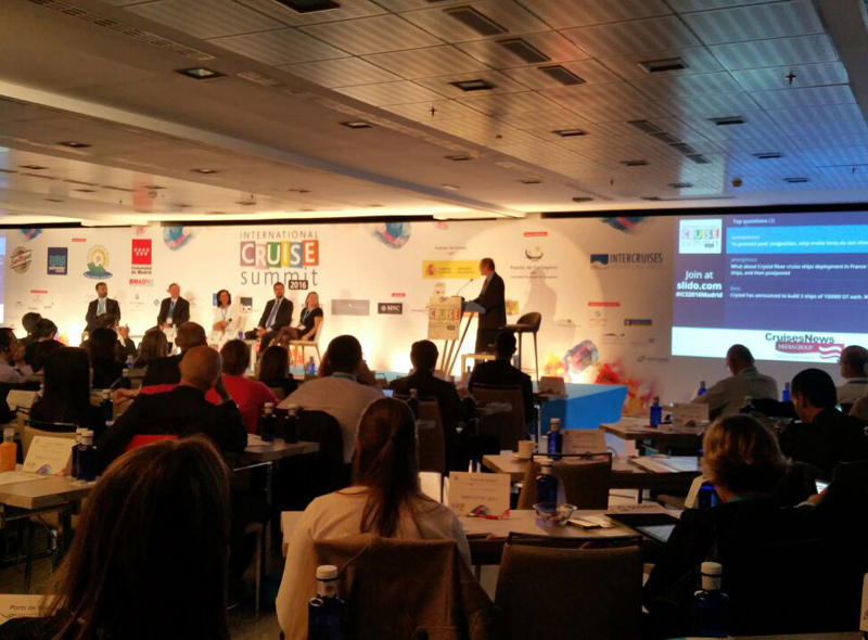 Una jornada al congrés International Cruise Summit de Madrid.
