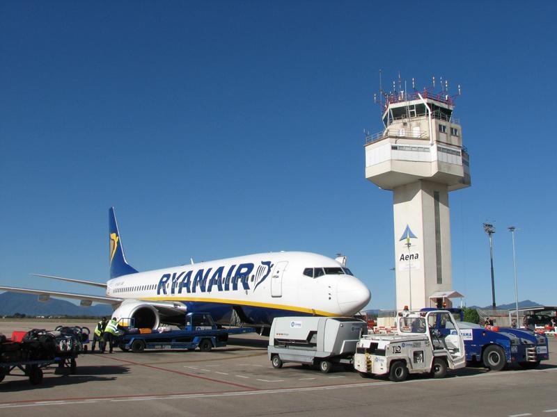 La Torre de Control A de l'aeroport Girona-Costa Brava. (Foto: hispanoaviacion.es).