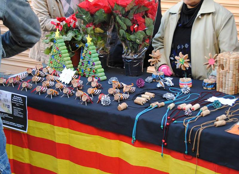 Paradeta de Vimar a la Fira Nadalenca de Palamós amb productes elaborats pels seus usuaris.