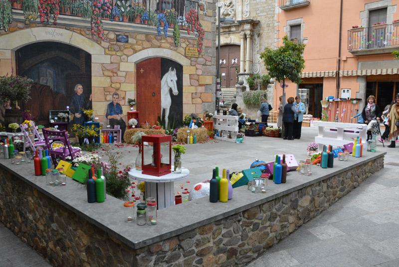 Calonge decora espais del seu nucli urbà. (Foto: Ajuntament de Calonge).