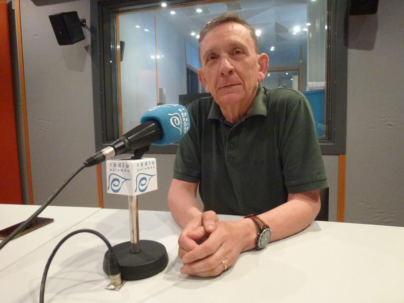 El regidor del PSC, Joan Gea, avui a Ràdio Palamós.