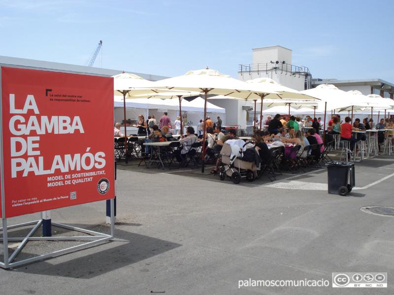 La Fira de la Gamba es fa al recinte del port de Palamós. (Foto: Ajuntament de Palamós).