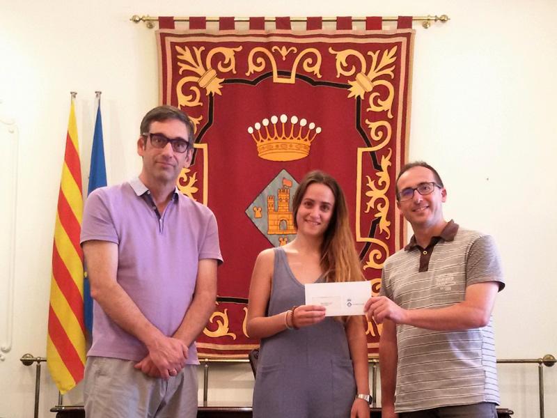 La palamosina Maria Limeres ha guanyat amb un projecte sobre la pintura del paisatge. (Foto: Ajuntament de Palamós).