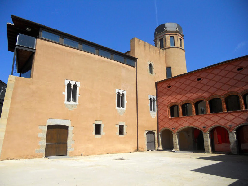 Pati d'armes del Castell de Calonge. (Foto: Pedro Salcedo).