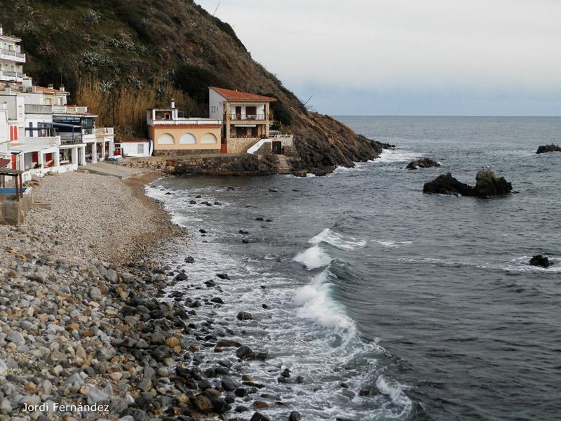 Mar de fons a Ca La Margarida, aquest passat dijous. (Foto: J. Fernández. tempspalamos.blogspot.com).