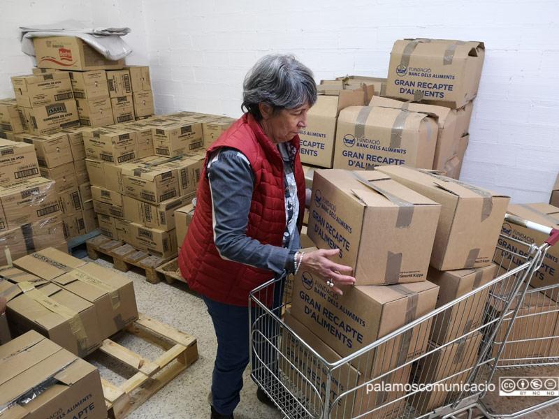 Activitat al magatzem de l'EDAP Albert Castejón, aquest cap de setmana.