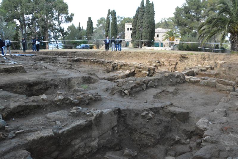 Excavació al jaciment romà del Collet de Sant Antoni. (Foto: Ajuntament de Calonge i Sant Antoni).