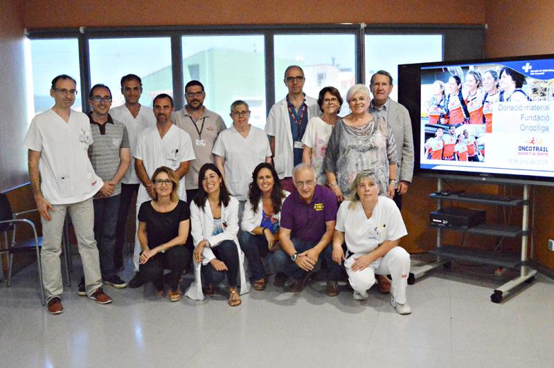 La Fundació Oncolliga ha donat a l'hospital de Palamós un total de 26.000 euros gràcies a l'Oncotrail. (Foto: SSIBE).