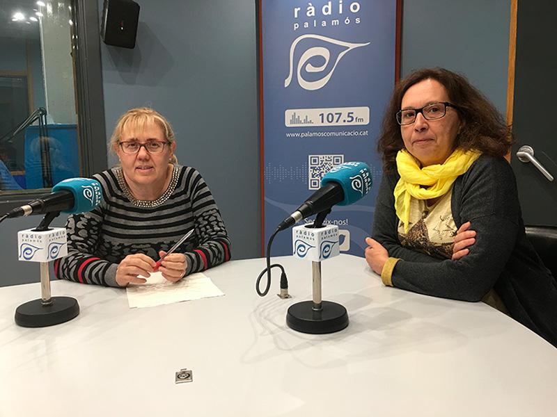 Les doctores Montse Llobet i Sílvia Ibáñez a l'espai de Ràdio Palamós 'Tal com som'.