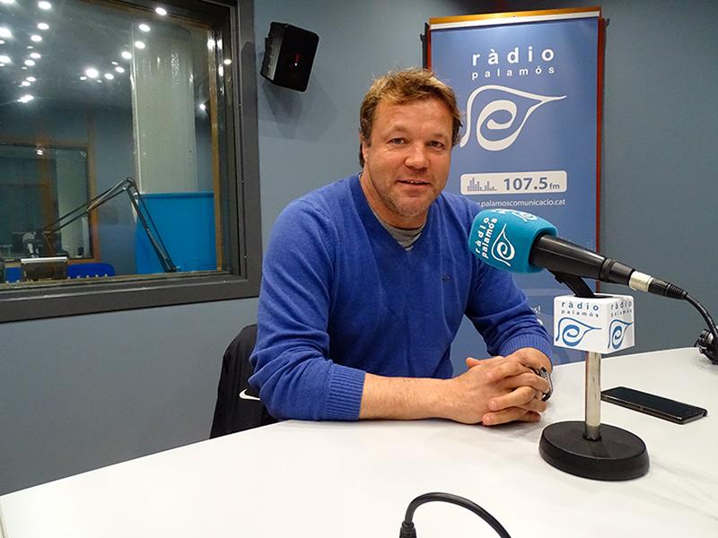 L'entrenador del Palamós CF, Javi Salamero, a l'espai 'Temps Afegit'.