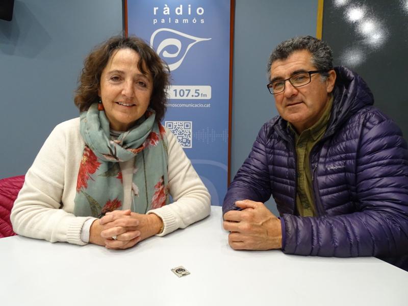 Zeta Figa i Zisko Rodríguez, membres de la plataforma Salvem la Pineda d'en Gori.