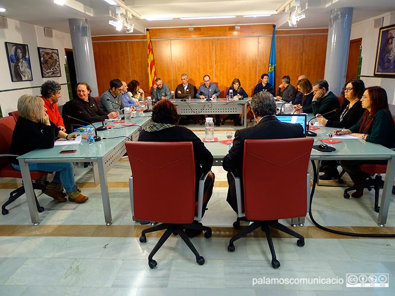 El Ple de l'Ajuntament de Palamós, reunit ahir.