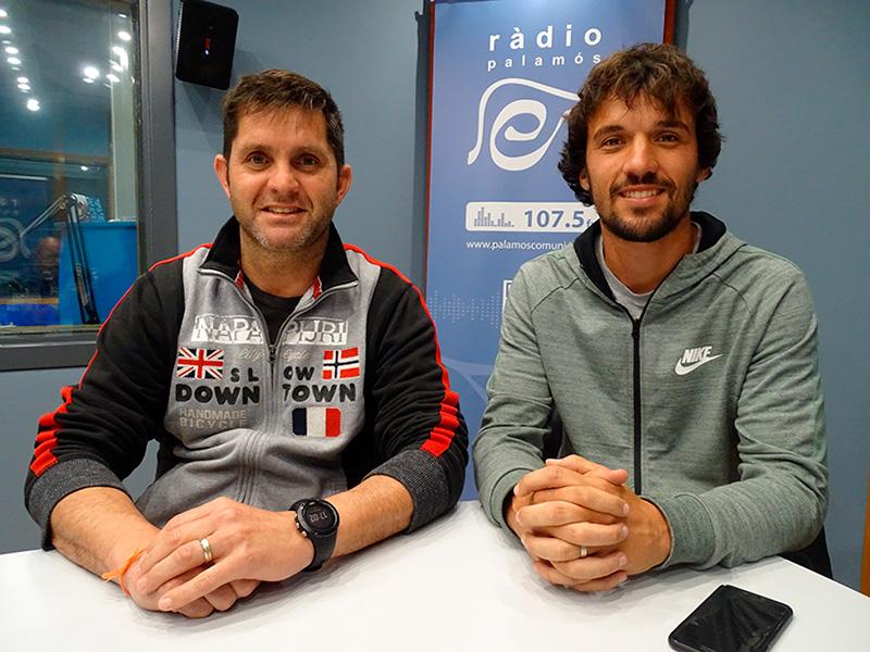 Agustí Soto i Jordi Casellas, president i coordinador, respectivament, de l'Escola de Fubol de Calonge i Sant Antoni.