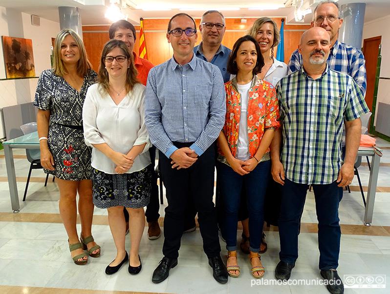 Nou dels deu regidors d'ERC del nou govern municipal, aquest matí a la Sala de Plens de l'Ajuntament de Palamós.