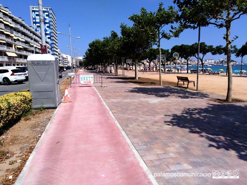 Tram del passeig on ja han finalitzat les obres.
