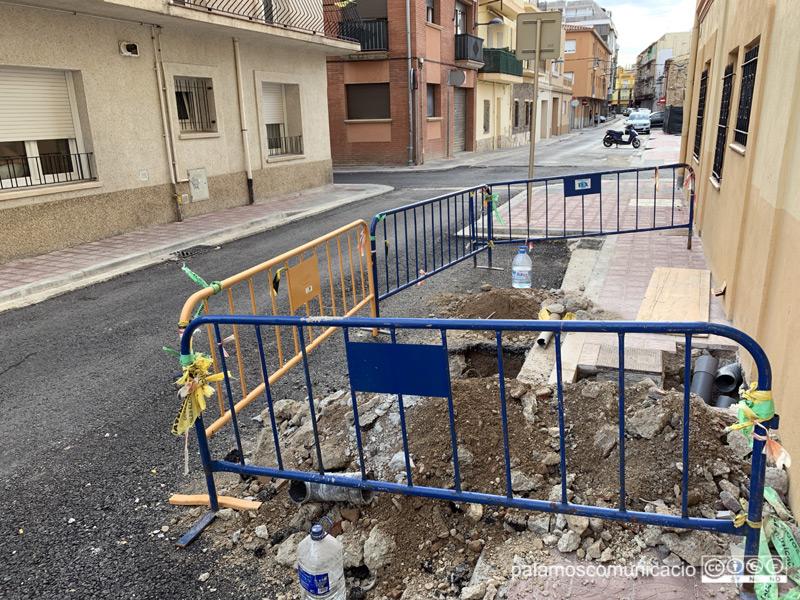 Les obres de l'Eixample, aquest matí al carrer de Sant Antoni.