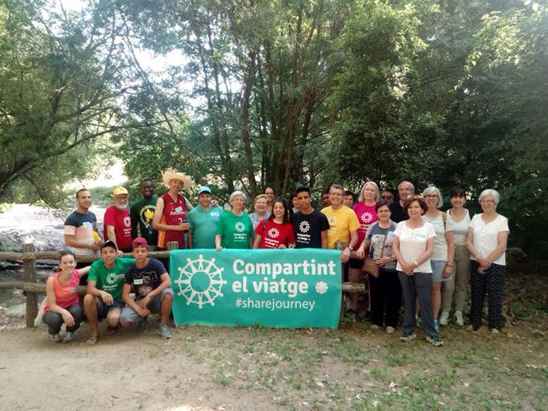 Imatge de la Marxa Solidària feta a Santa Coloma de Farners, setmanes enrere. (Foto: twitter.com/caritasgirona).
