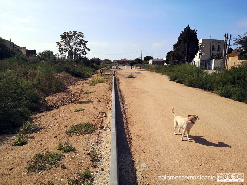 Les obres estan aturades des d'abans de l'estiu per l'impagament de quotes de dos propietaris de terrenys.