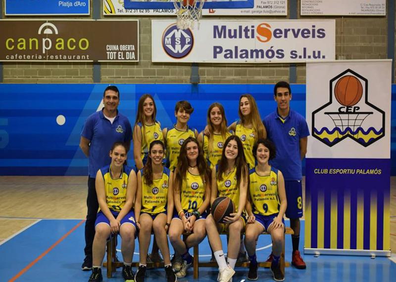 Equip cadet femení groc del Club Esportiu. (Foto: Club Esportiu Palamós).