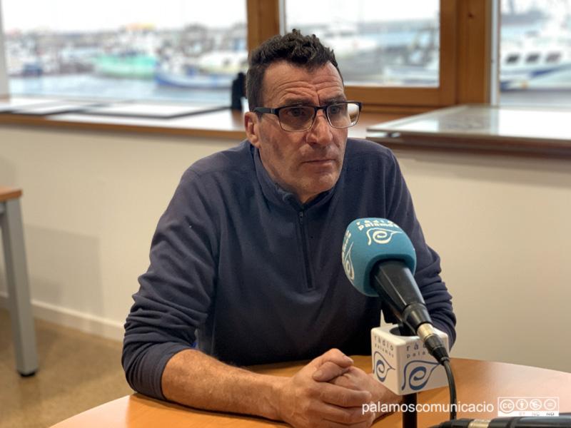 El Patró Major de la Confraria de Pescadors de Palamós, Toni Albalat, ahir en el decurs del programa