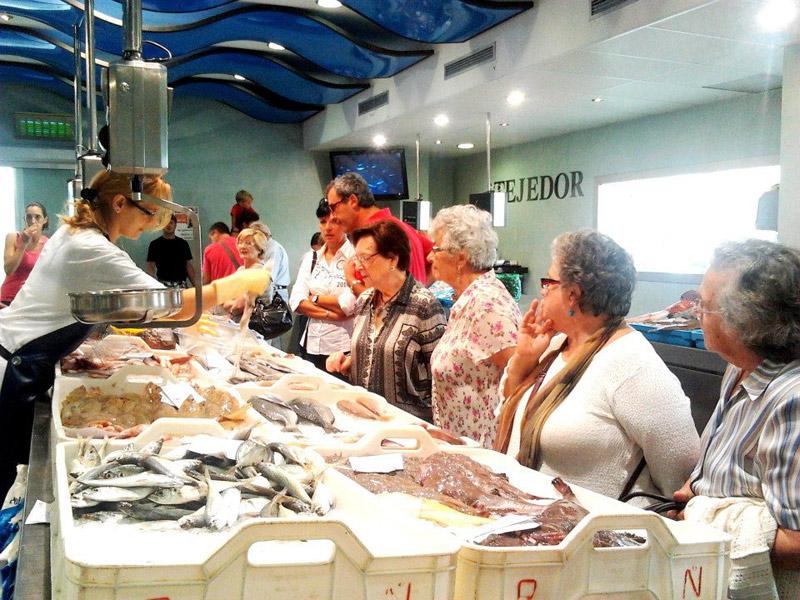 Mercat del Peix, a la Llotja de Palamós. (Foto: Museu de la Pesca).