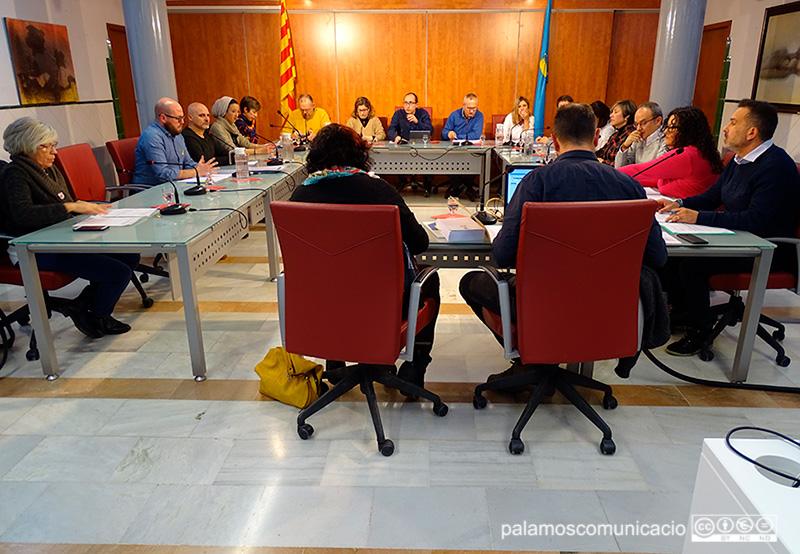 Ple de l'Ajuntament de Palamós del passat mes de gener.