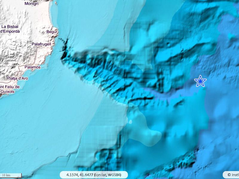Mapa amb la localització de l'epicentre del terratrèmol. (Font: Instituto Geográfico Nacional).