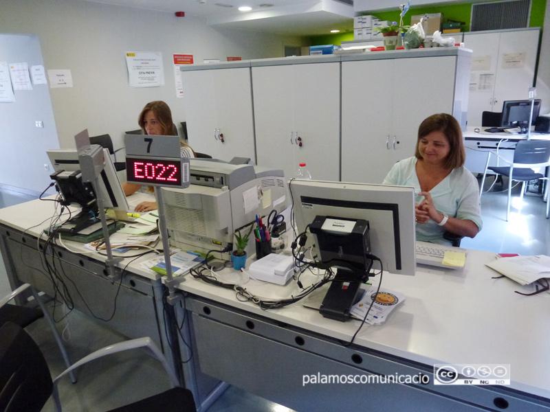 Oficina de Treball de la Generalitat a Palamós en una imatge d'arxiu.
