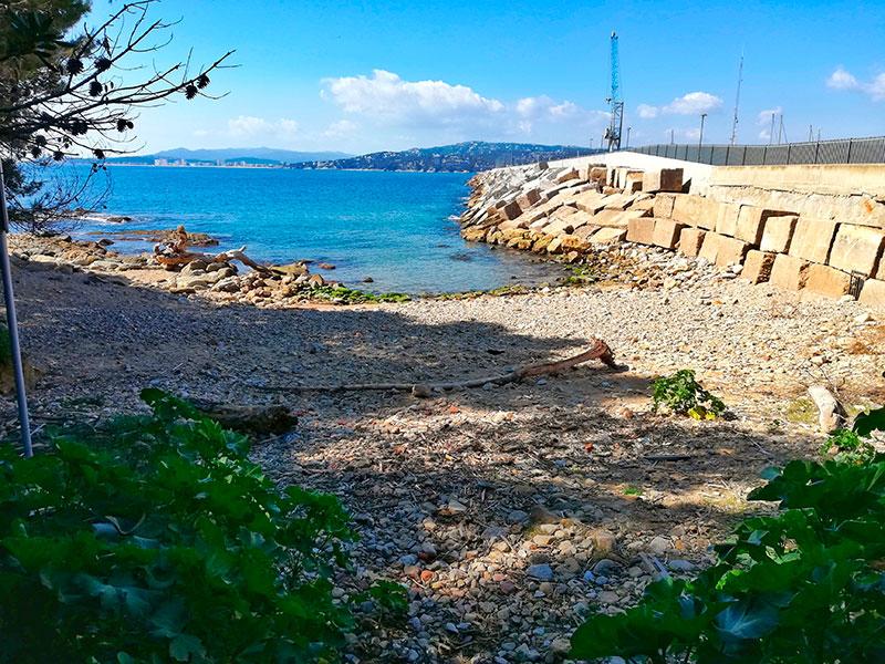 La platja de Pere Grau. (Foto: Ajuntament de Palamós).