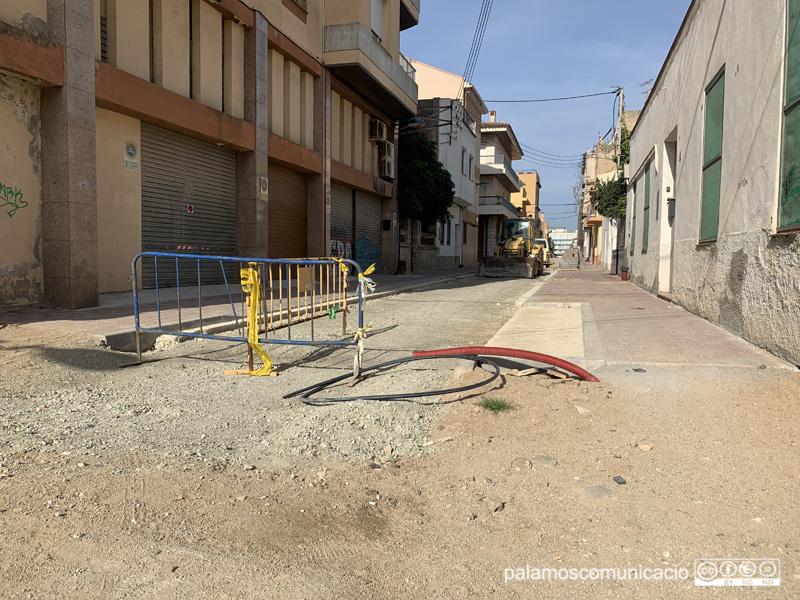 El carrer de Santa Bàrbara, un dels afectats per les obres de l'Eixample.