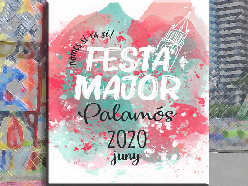 Cartell de la Festa Major de Palamós 2020.