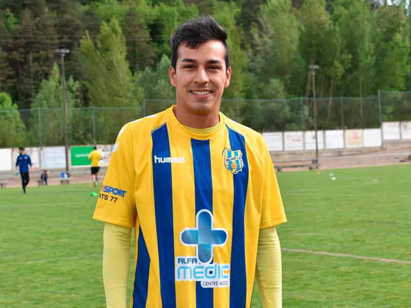 Steven Garcia va vestir la samarreta del Palamós en el darrer partit enfront el Vic Riuprimer. (Foto: Sergi Cortés).